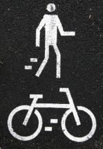 walk bike sign