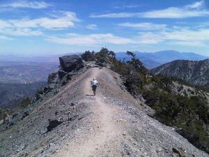Zaki hiking at Mt. Baldy