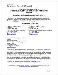 SGC guidelines invite